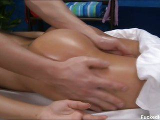 raunchy 18 year old mademoiselle collects screwed hard after good massage