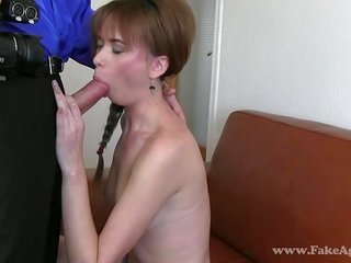 loyal-up play of the adorable sweetheart is recorded round this babe is licking a dick and fucked by it