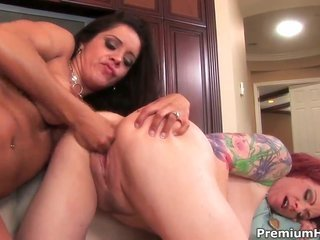 sapphic sweety milfs Francesca Le besides Kylie Irelbesides are having the greatest time weird stimusexy apart anothers shaved twat
