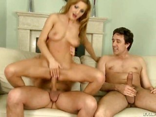 palatable tiny in size Alice Romain obtains her soothing palatable meat holes went through deep with big throbbing cock