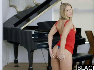 BLACKED beginner golden-haired Candice Dare damsel owned by vast Black Cock
