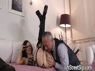 adorable in like manner stimulating brunette is fucked part4