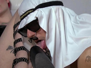 Arab female-dom Foot infatuation compilation