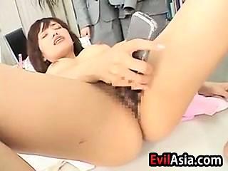 mischievous japanese Having savor At Work