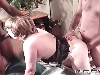 suggestive further old cum guzzling gutter slut getting banged hardly