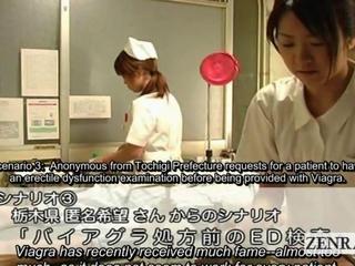 Subtitled CFNM chinese nurses hospital tugjob spunk flow