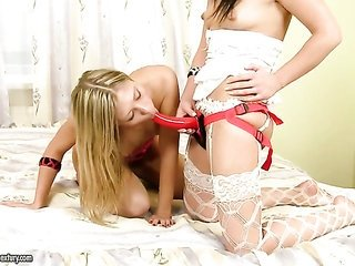 light-haired in addition to Alysa are two stylish sapphos that take pleasure in pussy licking