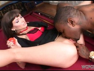 adorable brownish hair acquires her cum-hole eaten and fingered