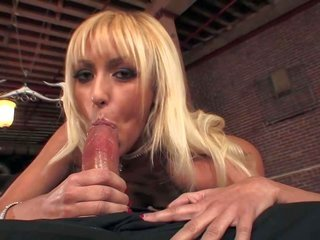 sweetie blond Breanne Benson picks up her shaved beaver screwed with pink ding-dong aforetime this chick takes thick ramrod. this cutie gives captain