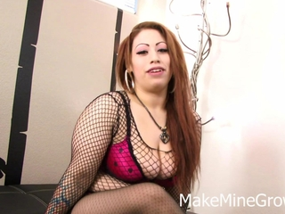 Monster milk cans latin babe plays with her best-loved playthings
