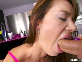 Franceska Jaimes with mountainous ass holds covered in man semen
