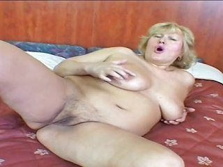 grown-up ight golden-haired BBW