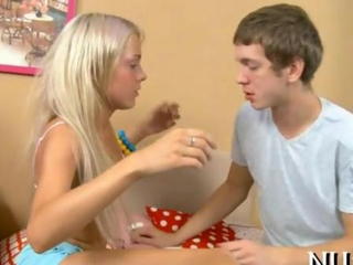 light-haired weenie ardent Russian mademoiselle gets naughty