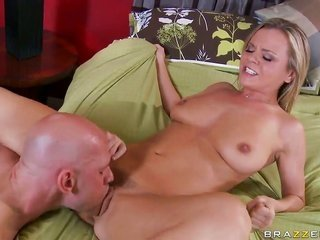 Bree Olson with pocket-sized billibongs depicts oralfucking act of sexual procreation tricks to Johnny Sins with hankering