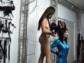 strange lithe sweetie dildos her sweet latex sex thrall