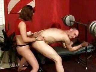 gal exercises on  his backdoor