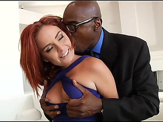 hot Redhead babe takes BBC in snatch together with Ass