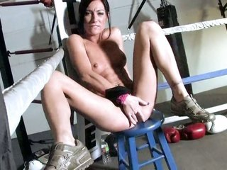 nice doll Starri Knight with light slit parts her legs to fuck her thirsty soggy observe with strapon