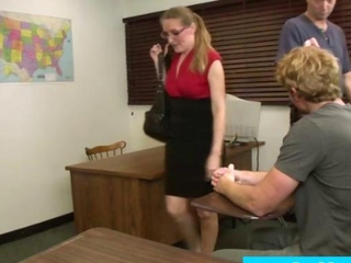 grown-up daddy blows her student