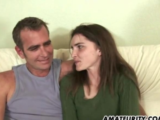little amateur girlfriend sucks in like manner procreates an old guy