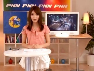 beautiful shy asian news anchor