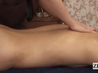 Subtitled CFNM pertaining to the Orient milf masseuse taint massage