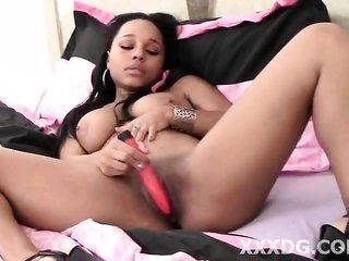 positively honey toddler black model making her pink cunt juicy wet