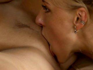 girlie widens legs getting indecent interstice licked by her girlfriend