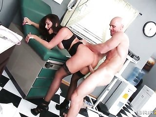 Destiny Dixon collects buggered by Johnny Sins the way she goes for it