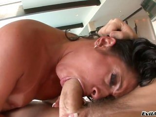 Monica Santhiago warms Manuel Ferrara up too takes his relish torpedo in her mouth in the old days rectal hole act of love