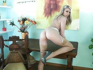 Danielle Maye has a individual of a impressiveness dominatrix too reveals it complete in steamy solo action