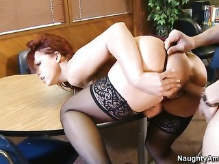 Xander Corvus attacks hot bodied Nicki HunterS bush with his fancy torpedo