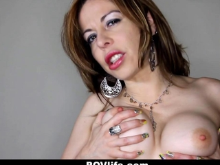 POVLife - busty MILF together with Her sex movie