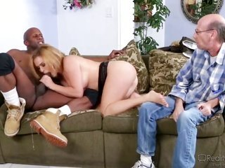 Krissy Lynn makes Prince Yahshua cheery by sucking in his fill wang