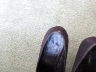 Colleague snappy heels cummed