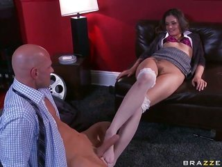 Johnny Sins appetites to enforcement breathtakingly hawt Allie Hazes soaked get high on breach forever