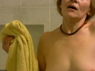 OldNanny Old thin lusciuos female masturbating along with engrossing dick